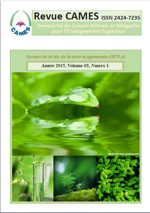 Page de garde Vol.3 Num.1 2015
